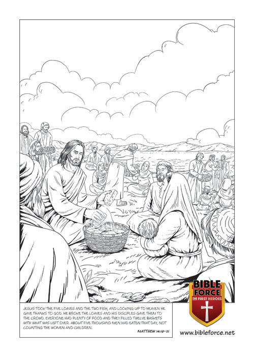 Jesus feeds the 5000 MATTHEW 14:19–21