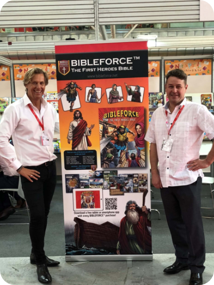 Bibelforce creators Wayne McKay and Peter Hicks